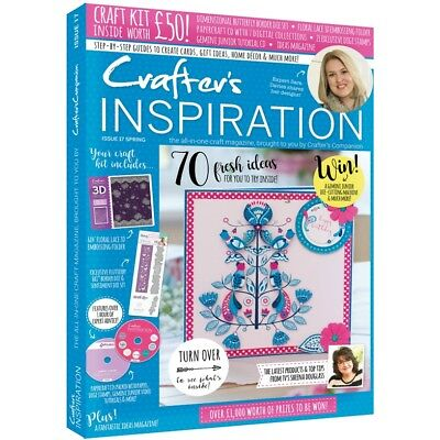 Crafters Inspiration Magazine Issue 17 Spring 2017 - £50 Free Kit Die Folder