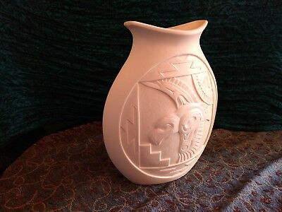First Nations Mètis Artist Terry Jackson Eagles Porcelain Vase