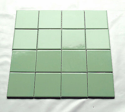 "140 Vtg Green Porcelain Wall Floor TILE 4.25"" Lots 1, 8, 12, 32, 48 FREE SHIPING"