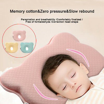 Soft Baby Cot Pillow Preventing Flat Head Neck Syndrome (Plagiocephaly) Care