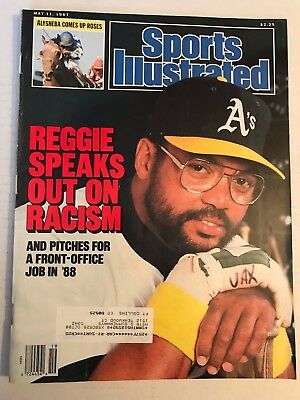 May 11, 1987 Sports Illustrated Geggie Jackson Speaks out on Racism MLB GD/VG