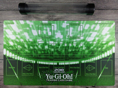 NEW YuGiOh 2018 1Player Master Rule 4 Link zone Playmat TCG Mat Free Best Tube