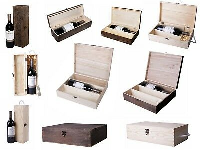 Wooden Wine Box Bottle Holder Wine Gift Package Metal Clasp