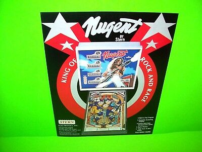 Stern Ted Nugent Original 1978 Arcade Game Pinball Machine Flyer Rock And Roll