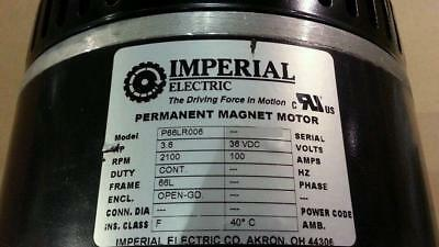 Imperial Electric 36v DC Permanent Magnet Motor 3.6 HP 2100 RPM