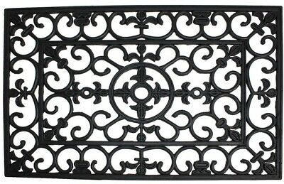 J And M Home Fashions Wrought Iron 18 In. X 30 In. Natural Rubber Door Mat New