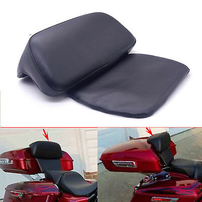 New Razor Chopped Tour Pak Backrest Pad For Harley Touring Road King Glide 14-18