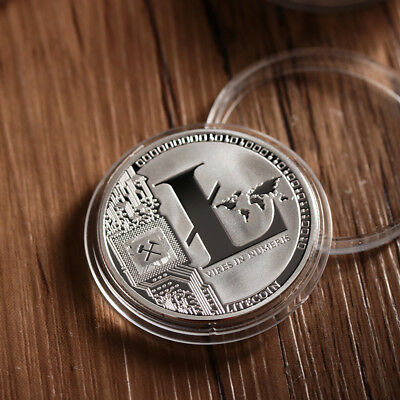 Silver Plated Litecoin Coin Collectible Gift LTC Coin Collection