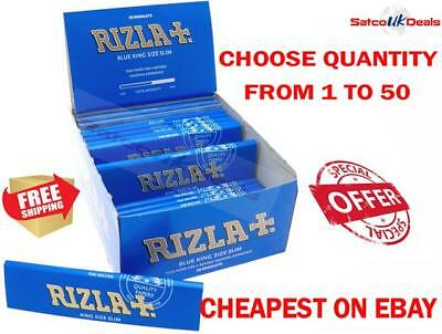 Rizla Blue King Size Slim Cigarette Smoking Paper Rolling Papers Genuine