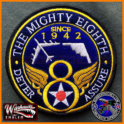 """8th Air Force """"The Mighty Eighth"""" Authentic Patch, B-52, B-2, Barksdale AFB USAF"""