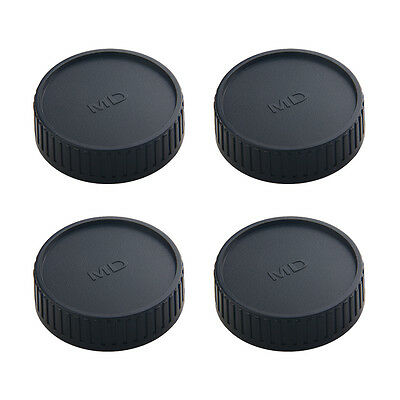 4 Pcs Rear Lens Cap Cover for Osrso Minolta MD MC SLR Camera Lens Replacement