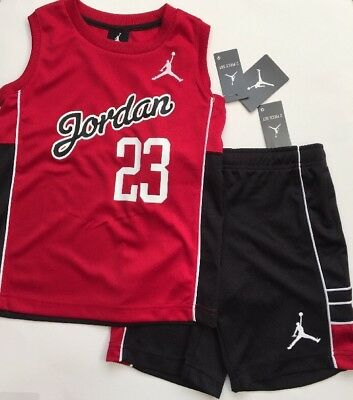 Air Jumpman Jordan  Boy's Sz 6 Shorts Tank Top Outfit Set Red Black