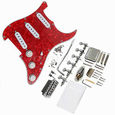 Pickup Loaded Pickguard Bridge Knobs Tuning Peg For Fender Strat Electric Guitar