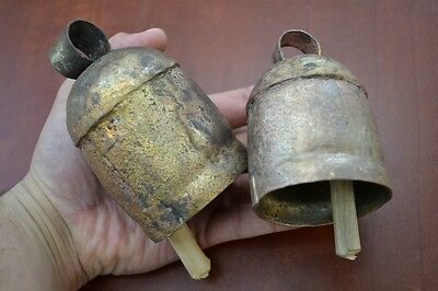 2 Pc Handmade Cow Goat Sheep Farm Animal Rusty Iron Metal Bell #f-36B