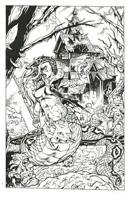 Tim Tyler Original Art Lamia L16 Pin-up Tim Vigil Faust SPECIAL!!
