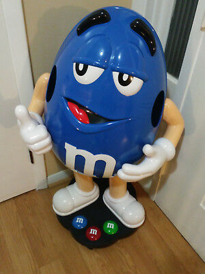 Rare Blue M&M Character Store Display On Wheels Good Condition!!!