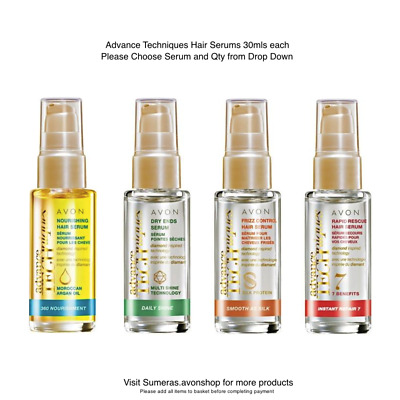 Avon AdvanceTechnique Oils~Rapid Rescue~Frizz Control~Daily Shine~Moroccan Argan