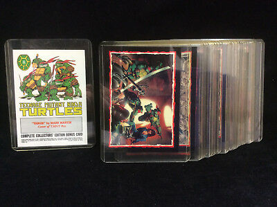 Topps TMNT Ninja Turtles Collectors Bonus Trading Cards A-V set Mirage Comics