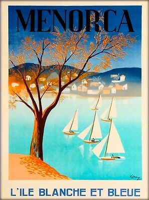 Menorca Minorca Island Spain Vintage Travel Advertisement Art Poster Print