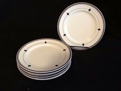 Set of 6 Lenox Casual Images Diamond Ring Salad Luncheon Plate Japan