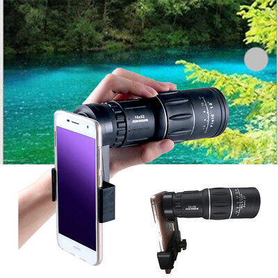 16x52 Zoom Dual Focus Monocular Telescope magnifier & Phone Holder & Pouch Kit
