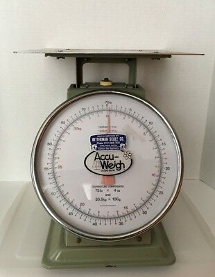 Antique  Accuweigh Shipping Scale 75 lb Vintage