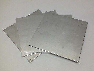 4pc 5-1/2 x 5-1/2 x 1/8 Aluminum Sheet Plate Scrap Metal Material Stock Flat Bar