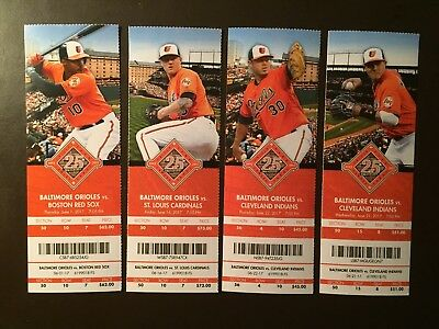Baltimore Orioles 2017 MLB ticket stubs - One ticket - See Listing