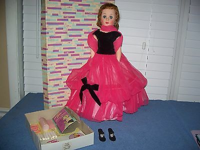 "Vintage Toni Sophisticate American Beauty Doll 20"" w/ Tosca Red Hair & Gown"