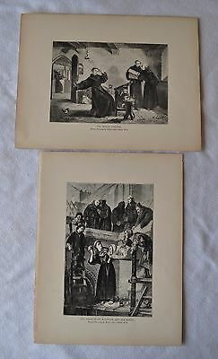 Pair of ENGRAVINGS, c1900 - paintings by HENRY STACY MARKS, nice subject matter.