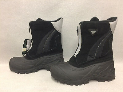 Therma by Weatherproof Mens Rocket Black Winter Boots Size 9 US J1