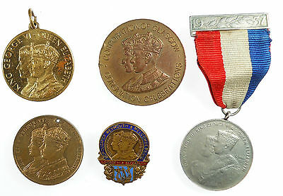 Great Britain group of five medals of GEORGE VI various metals 23mm - 38mm