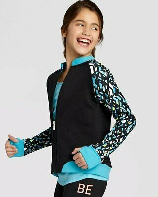 C9 Champion Girls Activewear Track Full Zip Jacket Black/White/Teal - Pick Size