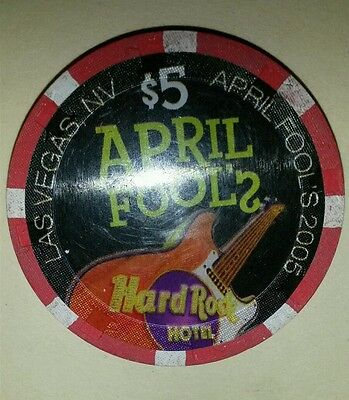 Hard Rock  April Fools Day 2005  $5 Casino Chip -