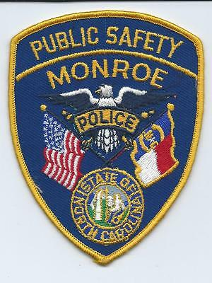 Vintage Monroe Police Public Safety patch North Carolina NC NEW & UNUSED