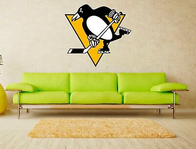 Pittsburgh Penguins NHL Logo Vinyl Wall Decal Sticker Home Decor