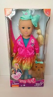 """JOJO SIWA MY LIFE AS DOLL 18"""" with Bow Bow Plush IN HAND Fast Shipping AUTHENTIC"""