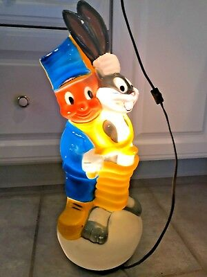 Looney Tunes Bugs Bunny Elmer Fudd Vintage Electric Lamp