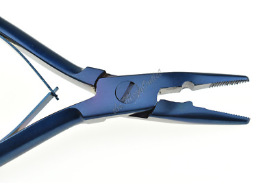 """Hair Extension Plier Removal & Fitting Pliers 5"""" Stainless Steel Tools Blue"""