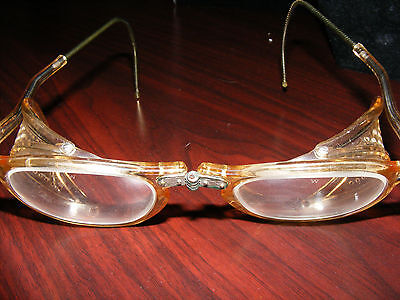 LAST PAIR- Authentic Antique WILLSON Motorcycle FOLDING Goggles -STEAMPUNK - OLD