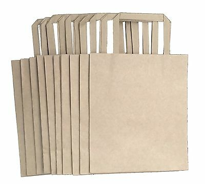 10 x Kraft Paper Gift Carry Bags Small 210mm L x 180mm W+ 90mm gusset