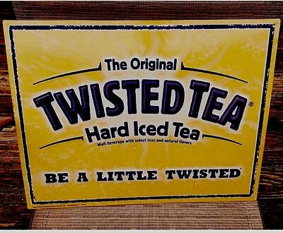 Twisted Tea Hard Iced Tea  Beer Metal Sign Be A Little Twisted