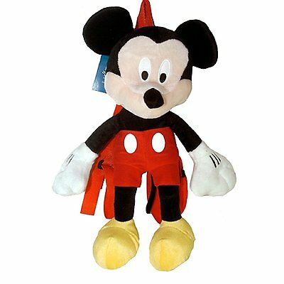 """Mickey Mouse Plush 15"""" Backpack - Disney Mickey Plush Backpack"""