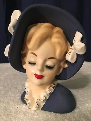 """Beautiful """"Shafford"""" Japan 4255 Young Lady Head Vase 5 3/4 Inches"""