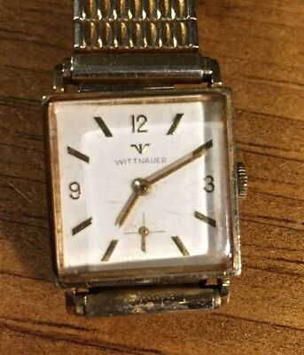 Vintage Men's Whitnauer 10K Rolled Gold Plate Wristwatch Works!