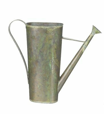 "Sullivans 15"" Antique Style Green Hammered Metal Decorative Watering Can"