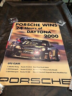 2000 Porsche 24 Hours of Daytona Victory Showroom Advertising Sales Poster RARE!