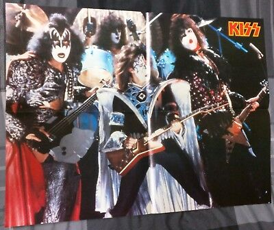 Kiss / Eric Carr / Paul Stanley / 1980's 4 Page Magazine Poster + Free Dvd