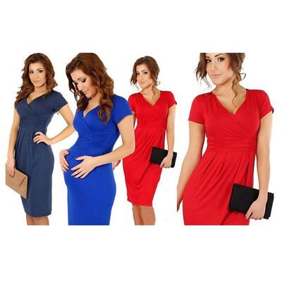Pregnant Women Maternity Dress Multi-colored Summer Clothes Casual Stretchy KU