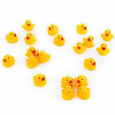5/10/20X Squeaky Kids Bath Rubber Duck Playing Toys Bath Time Floating Water KU